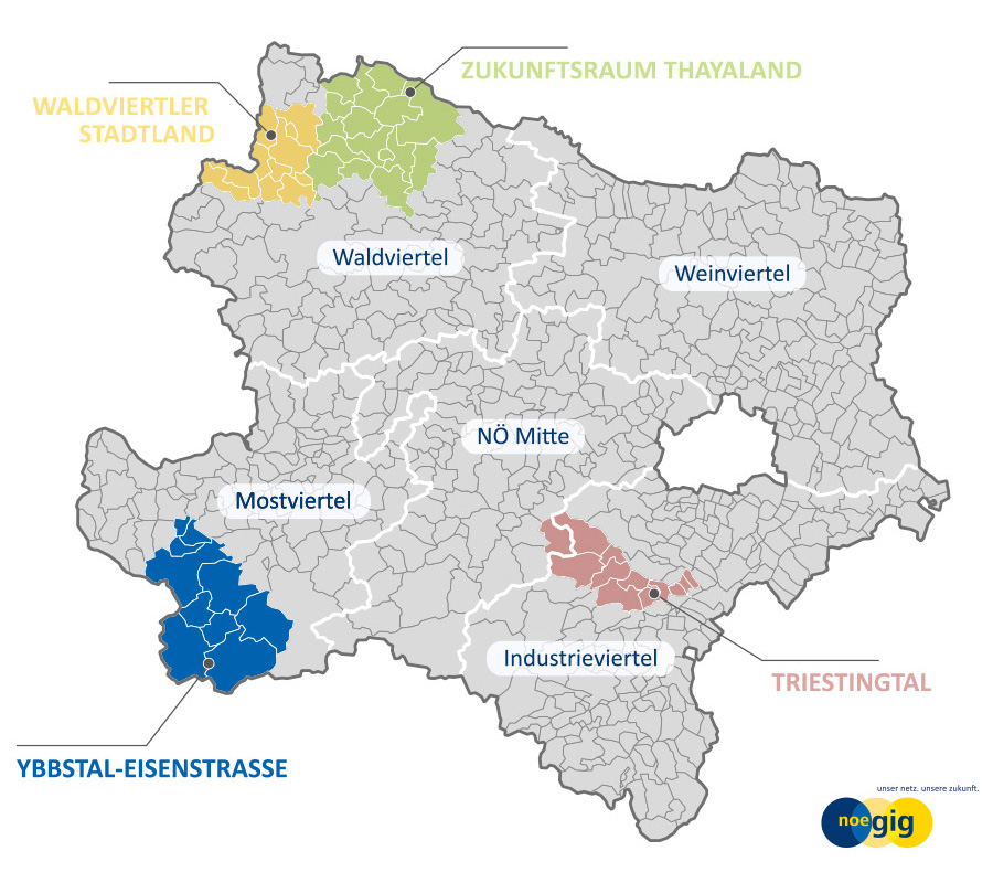 Glasfaser Internet Anbieter: Zukunftsraum Ybbstal - Eisenstraße (privat)
